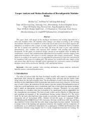 Torque Analysis and Motion Realization of Reconfigurable Modular ...