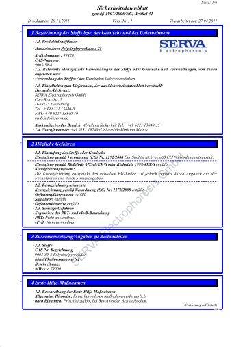 Seite - SERVA Electrophoresis GmbH
