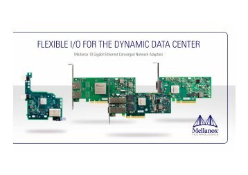 flexible i/o for the dynamic data center