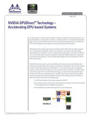 NVIDIA GPUDirect™ Technology – Accelerating GPU-based Systems
