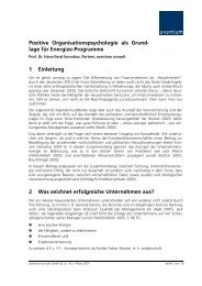 Positive Organisationspsychologie - Prof. Dr. Hans-Gerd Servatius