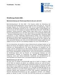 Zusammenfassung WindEnergy Studie 2008 - Server-husumwind.de