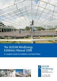 The HUSUM WindEnergy Exhibitors Manual 2008 - Server ...