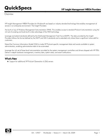 HP Insight Management WBEM Providers - Server-Unit