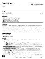 HP ProCurve Switch 2600 Series - Server-Unit