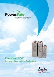 Powersafe® Opzv - Enersys - EMEA
