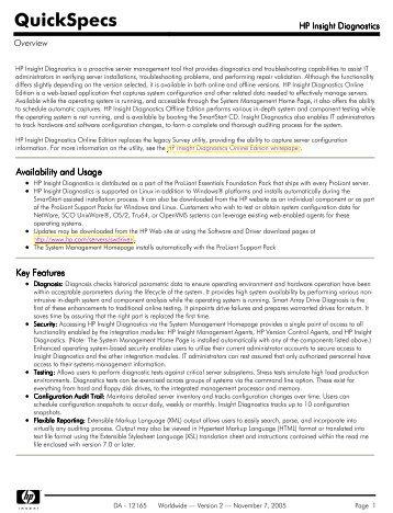 HP Insight Diagnostics - Server-Unit