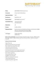 Name: BARTENBACH Marketing Services Firmensitz: An der Fahrt 8 ...