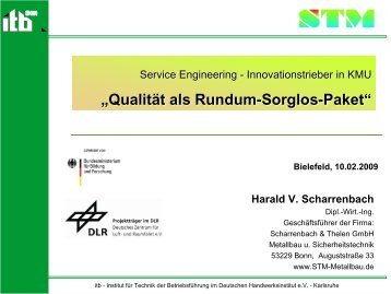 Qualität als Rundum-Sorglos-Paket - Service-Engineering ...