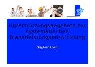 (Siegfried Ulrich, Beauftragter für Innovation und ...