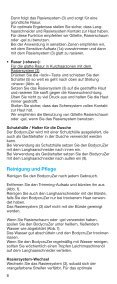 bodycruZer - Braun Consumer Service spare parts use instructions ... - Page 7