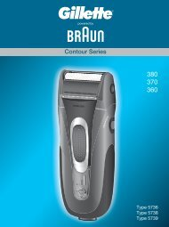 Contour Series - Braun Consumer Service spare parts use ...
