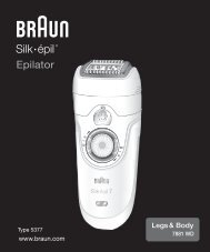 Silk• épil® - Braun Consumer Service spare parts use instructions ...