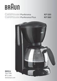 CaféHouse PurAroma - Braun Consumer Service spare parts use ...
