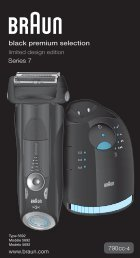 black premium selection - Braun Consumer Service spare parts use ...