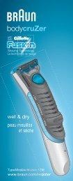 bodycruZer - Braun Consumer Service spare parts use instructions ...