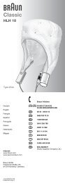 Classic - Braun Consumer Service spare parts use instructions ...