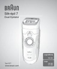 Silk•épil - Braun Consumer Service spare parts use instructions ...