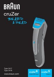 cruZer - Braun Consumer Service spare parts use instructions ...