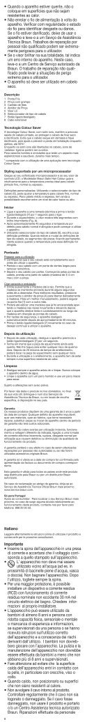 Satin·Hair 7 - Braun Consumer Service spare parts use instructions ... - Page 6