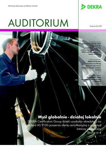 Auditorium 3/2007 PDF - Dekra