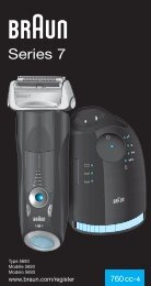 Series 7 - Braun Consumer Service spare parts use instructions ...