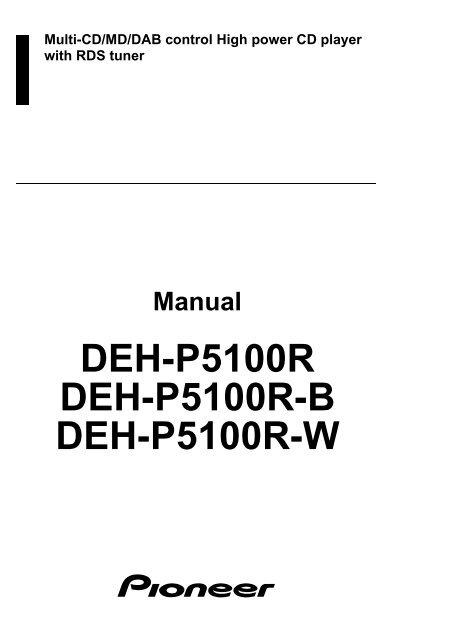 Pioneer Deh 23 Wiring Diagram