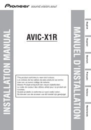 manuel d'installation installation manual - Service.pioneer-eur.com ...
