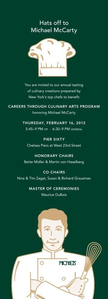 Michael McCarty - CCAP Careers through Culinary Arts Program
