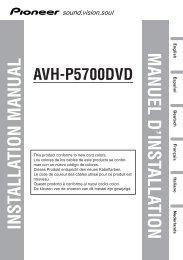 installation manual manuel d'installation - Service.pioneer-eur.com ...