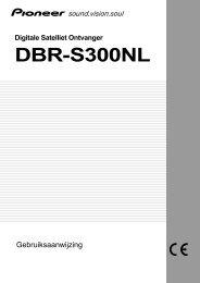 Digitale Satelliet Ontvanger DBR-S300NL - Service.pioneer-eur.com ...