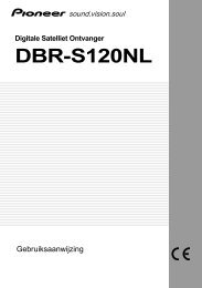 Digitale Satelliet Ontvanger DBR-S120NL - Service.pioneer-eur.com ...
