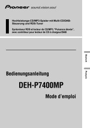 DEH-P7400MP - Service.pioneer-eur.com - Pioneer