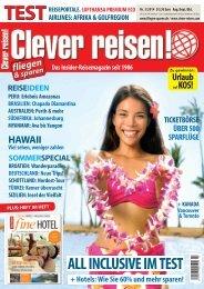 Aktuelle Ausgabe Clever reisen! 3/14