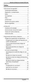 MANDO A DISTANCIA UNIVERSAL TELECOMANDO UNIVERSALE - Page 3