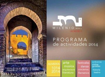 Almería: Programa de Actividades Milenio 2014