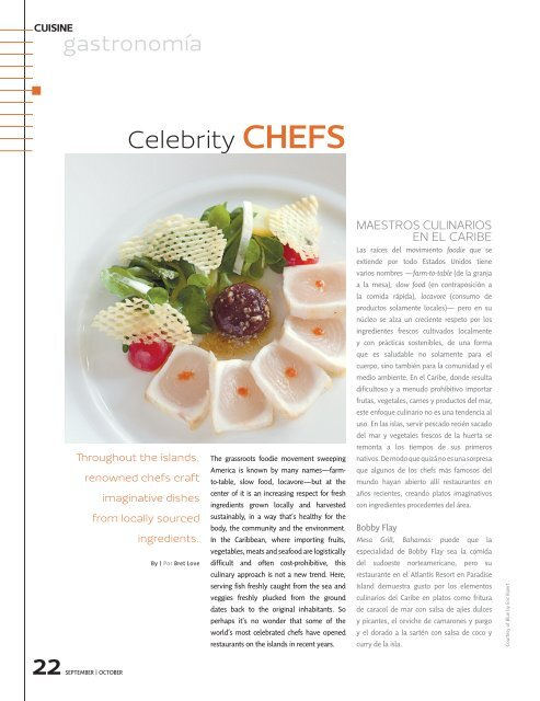 Celebrity CHEFS - Green Global Travel