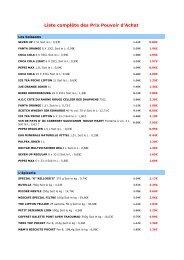 liste produits baisse des prix - Carrefour