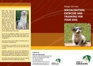socialisation, exercise and training for your dog - Shire of Kalamunda