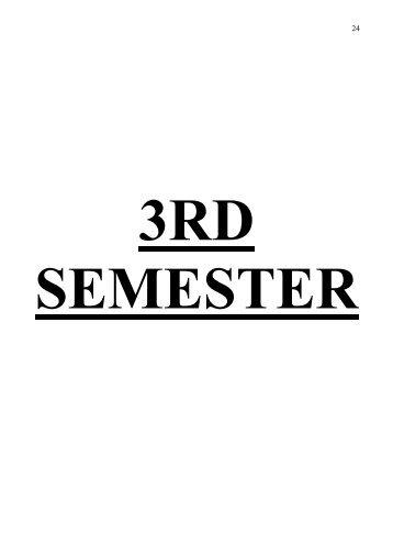 3rd semester