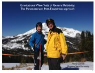 Gravitational Wave Tests of General Relativity - Montana State ...