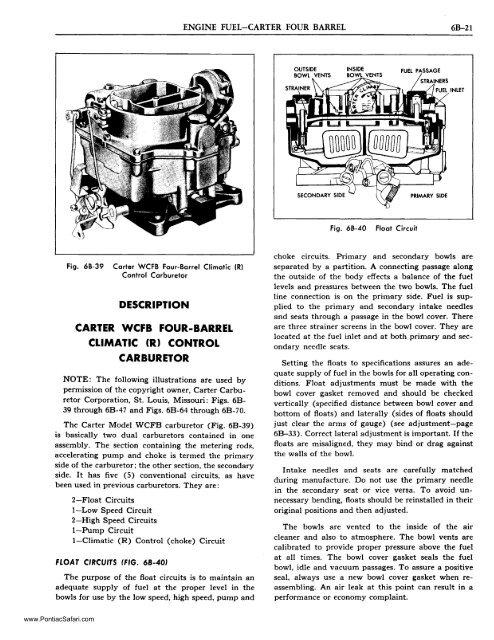Carter WCFB 4 - Pontiac Custom Safari 55 56 & 57