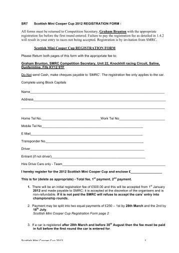 Nos mini 2 stage progressive controller mps racing mini registration form version 2 scottish motor racing club sciox Images