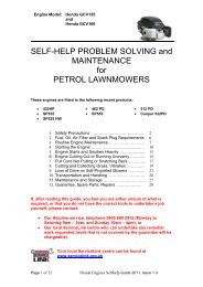 SELF-HELP PROBLEM SOLVING and MAINTENANCE for PETROL ...