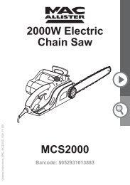 MacAllister MCS2000 Chainsaw - Service Link