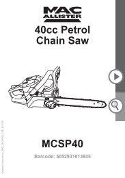 MacAllister MCSP40 Chainsaw - Service Link
