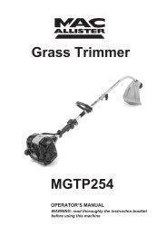 MacAllister MGTP254 Grass Trimmer - Service Link