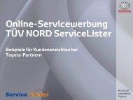 weitere Beispiele und Referenzen von Toyota ... - ServiceLister