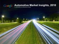 Automotive Market Insights, 2010 - ServiceLister