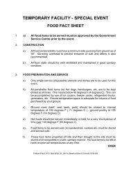 Temporary Facility – Special Event Food Fact Sheet - Service NL